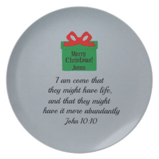John 10:10 dinner plates