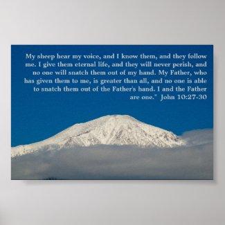John 10:27-30 poster print