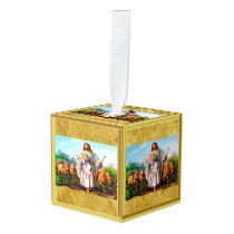 John 10:7-21 I Am the Good Shepherd Cube Ornament