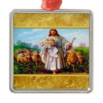 John 10:7-21 I Am the Good Shepherd Metal Ornament