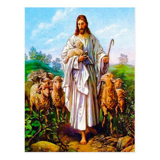 John 10:7-21 I Am the Good Shepherd postcard