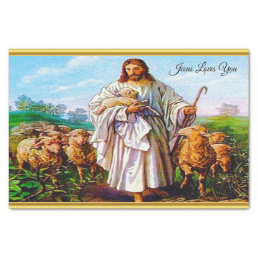 John 10:7-21 I Am the Good Shepherd Tissue Paper