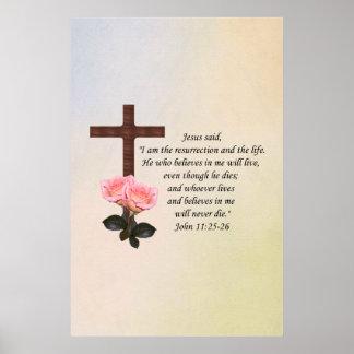 John 11:25-26 ~ Resurrection Life Print