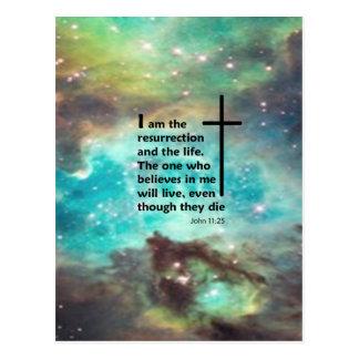 John 11:25 postcard