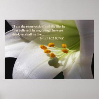 John 11:25 Scripture Poster