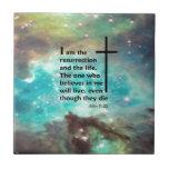 John 11:25 tile