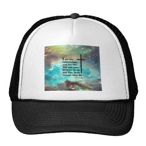 John 11:25 trucker hat