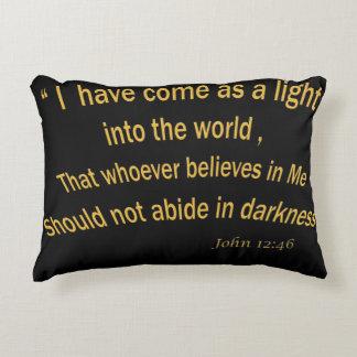 John 12 46 I have Come As a Light 1030.02 Decorative Pillow