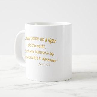 John 12 46 I have Come As a Light 1030.02 Giant Coffee Mug