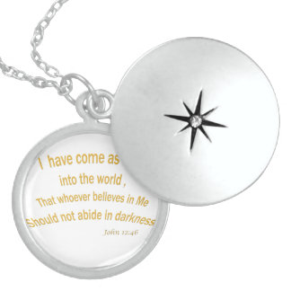 John 12 46 I have Come As a Light 1030.02 Round Locket Necklace