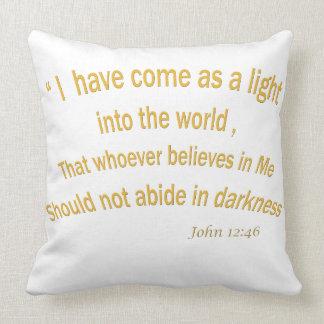 John 12 46 I have Come As a Light 1030.02 Throw Pillow