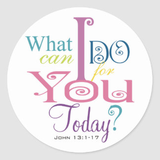 John 13:1-17 Wash Disciples Feet Scripture-Wear Classic Round Sticker
