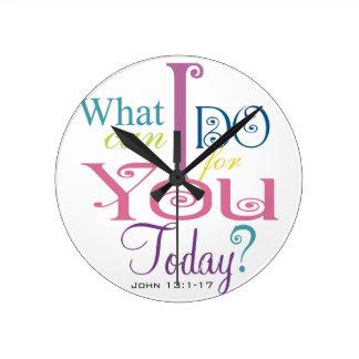 John 13:1-17 Wash Disciples Feet Scripture-Wear Wall Clock