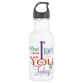 John 13:1-17 Wash Disciples Feet Scripture-Wear Stainless Steel Water Bottle