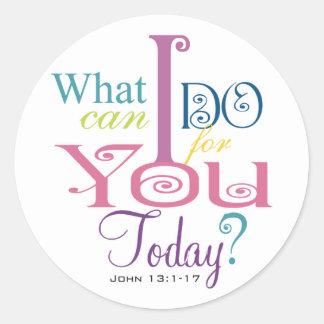John 13:1-17 Wash Disciples Feet Scripture-Wear Stickers