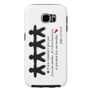 John 13:34-35 Love one another galaxy phone case