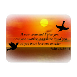 John 13:34-35 love one another magnet