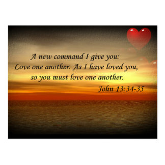 John 13:34-35 Love one another postcard