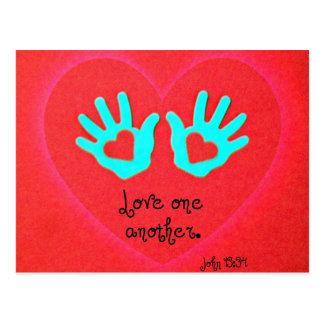 John 13:34 postcard