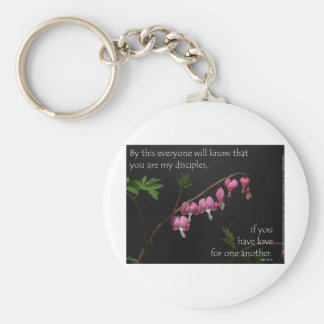 John 13:35 - Love for one another Keychain