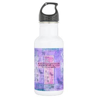 John 13:35 Uplifting Bible Quote about LOVE 18oz Water Bottle