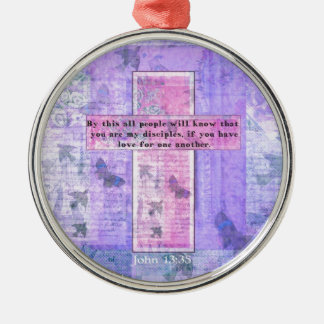 John 13 35 Uplifting Bible Quote about LOVE Christmas Ornament
