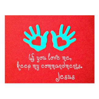 John 14:15 post card