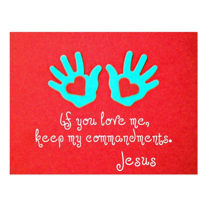 John 14:15 postcard