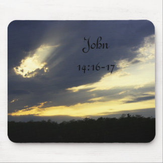 John 14:16-17 Sunset Mousepad