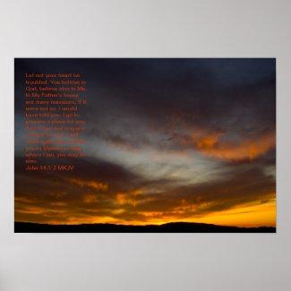 John 14:1-3 poster print