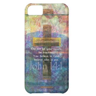 John 14:1 Inspirational Biblical verse iPhone 5C Cover