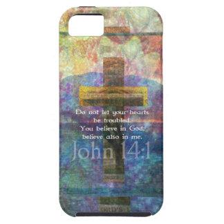 John 14:1 Inspirational Biblical verse iPhone SE/5/5s Case