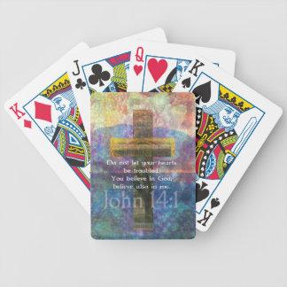 John 14:1 Inspirational Biblical verse Bicycle Playing Cards