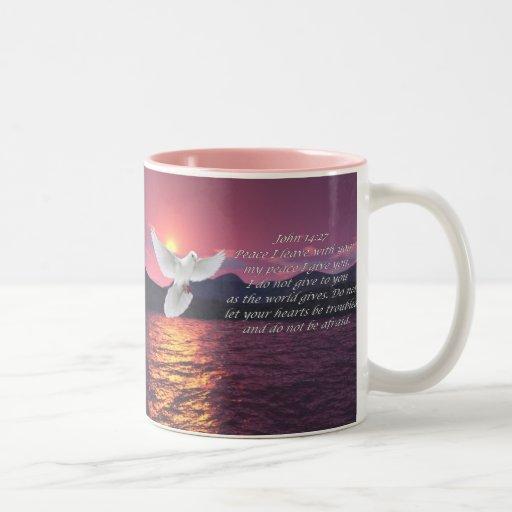 John 14:27 Bible quote Mug