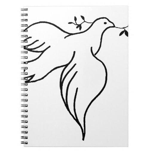 John 14:27 Bible verse Religion Christianity Dove Spiral Notebook
