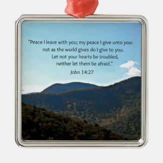 John 14:27 metal ornament