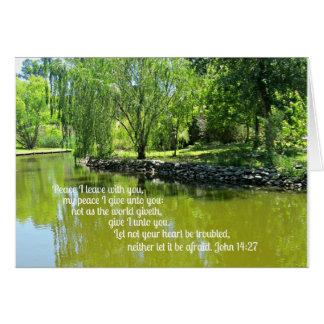 John 14:27 Peace I leave with you... Card