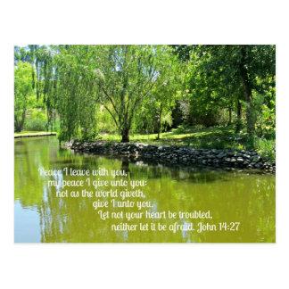 John 14:27 Peace I leave with you... Postcard