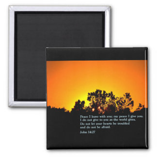 John 14:27  Sunset Fridge Magnets