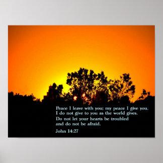 John 14:27 Sunset Poster