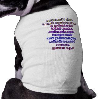 John 14:6 Albanian Dog Tee Shirt