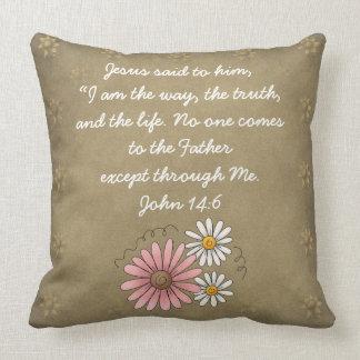 John 14:6 Bible Verse Custom Christian Gift Pillows