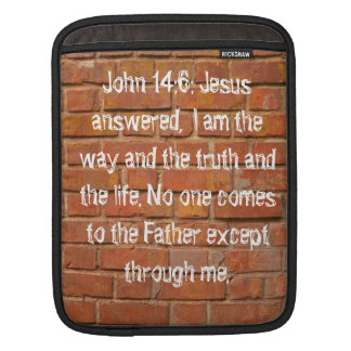 John 14:6 Brick Wall Rickshaw Bagworks iPad sleeve