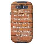 John 14:6 Brick Wall Samsung Galaxy S Case Galaxy SIII Case
