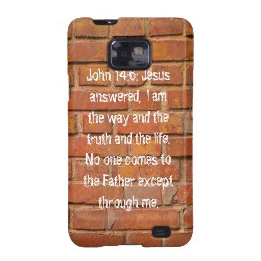 John 14:6 Brick Wall Samsung Galaxy S Case Galaxy SII Cases