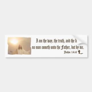 John 14:6 - Bumper Sticker Car Bumper Sticker