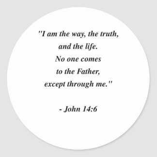JOHN 14:6 CLASSIC ROUND STICKER
