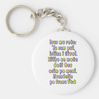 John 14:6 Croatian Keychain