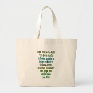 John 14:6 Czech Large Tote Bag
