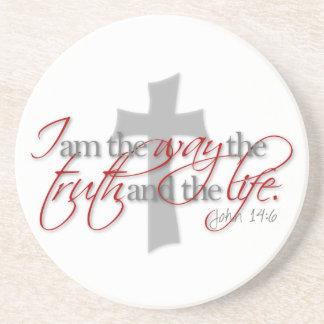 John 14:6 drink coaster